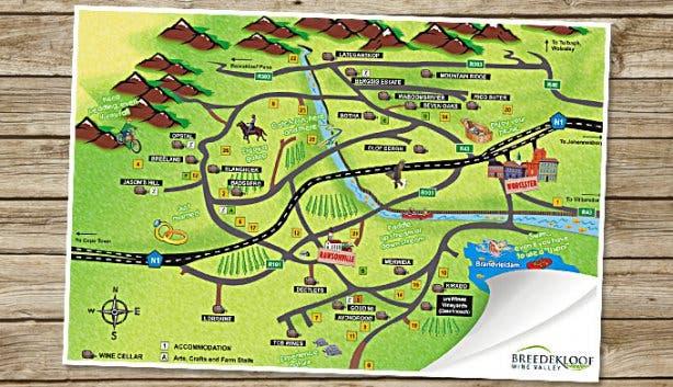Breedekloof Soetes & Soup Map 2014