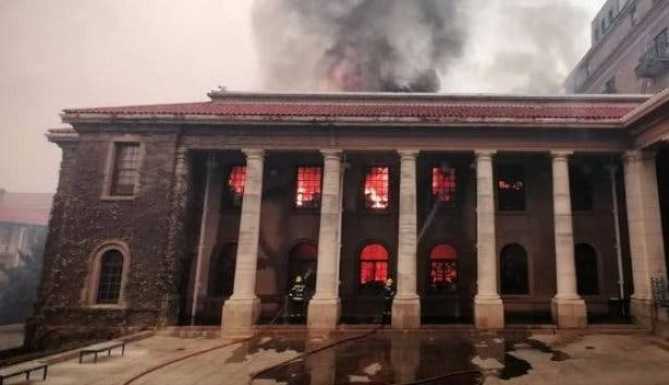 African Studies Library, Rhodes Memorial Fire