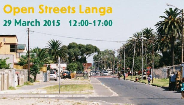 Open Streets in Langa in Cape Town in March