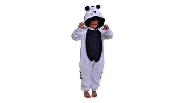 aFREAKa Clothing Kid White Tiger Onesie