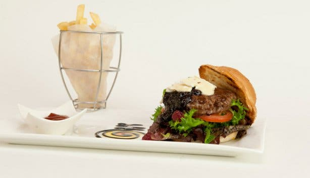 Fire and Ice Burger and Chips