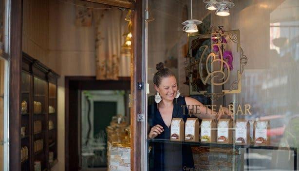 The Tea Bar Lady Bonin entrance