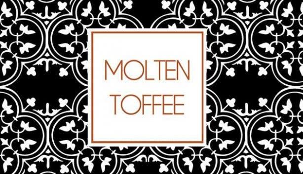 Molten Toffee Coffee Shop Logo