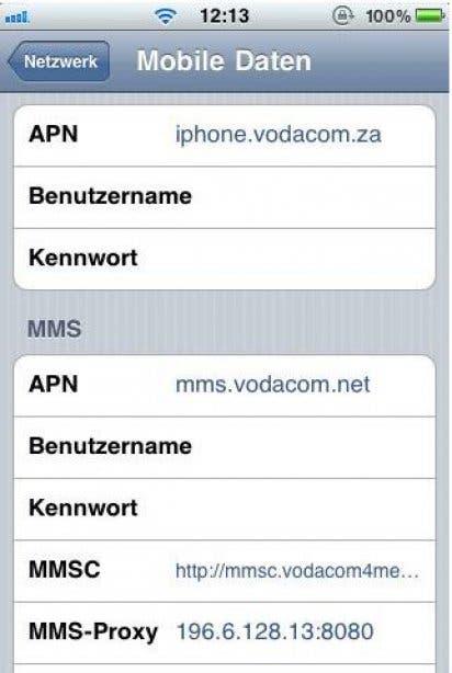 Vodacom Netzwerk