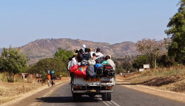 Overloaded car South Africa