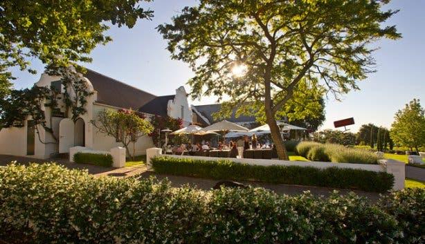 Peter Falke Wine Farm Outdoor Tasting Lounge Stellenbosch
