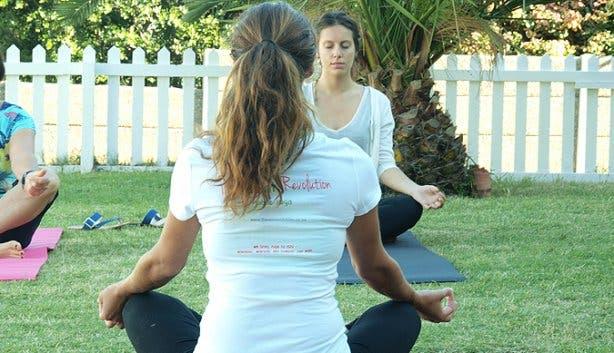 Om Revolution garden yoga