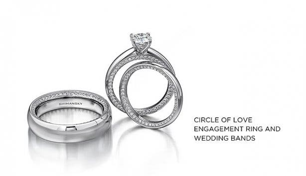 Shimansky Circle of Love Engagement Ring