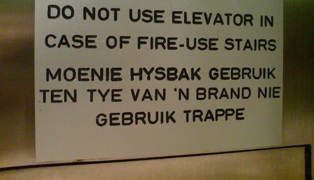 afrikaanse taal grappige woorden
