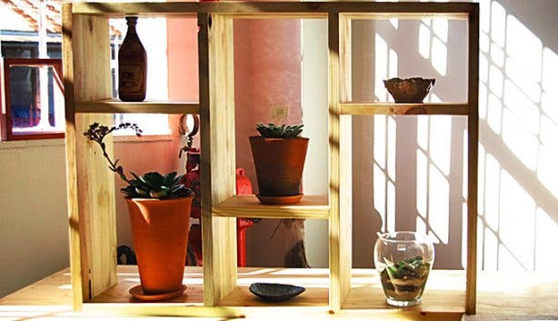 Eco Furniture Design Wooden Storage Shelves