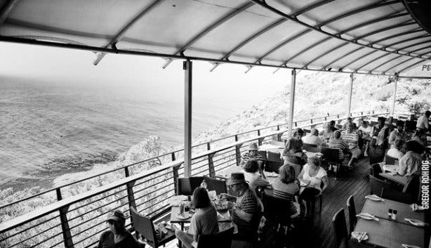 View from Two Oceans Restaurant South Africa