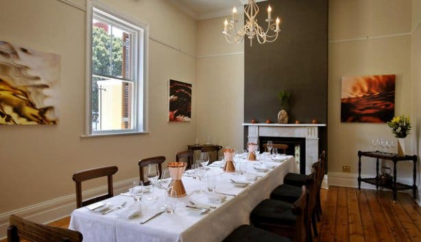 Dining room at Auslese Event Venue
