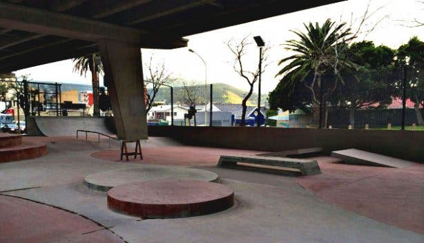 Cape Town Skate Park Under a Bridge