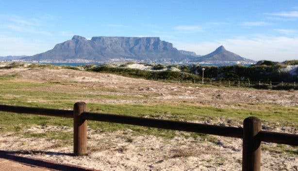 Table Mountain from Colours of Cape Town lodge