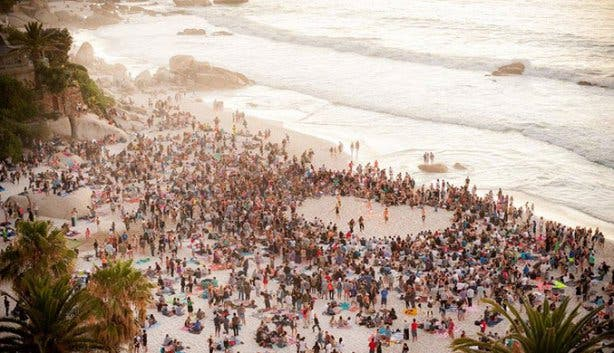 Clifton Beach Gathering and Fire Jam