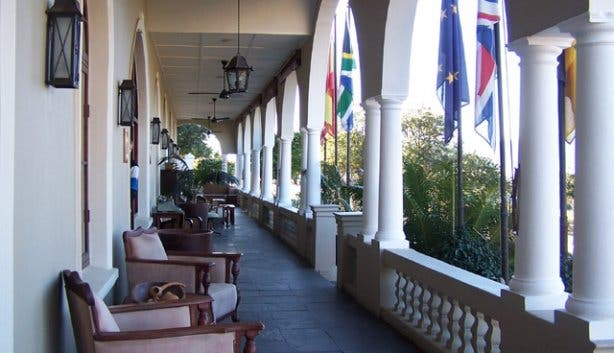 Longest stoep in SA at Royal Hotel