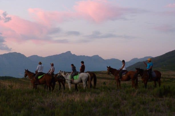 Sunset and Moonlight Trails at Horse About Trails in Cape Winelands