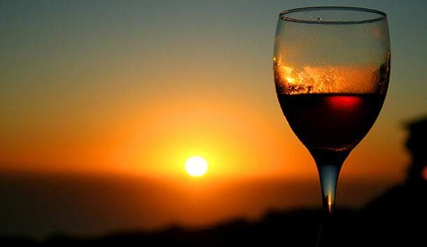 sundowner glass wine