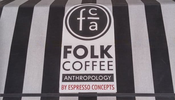 Folk Coffee Anthropology Sign