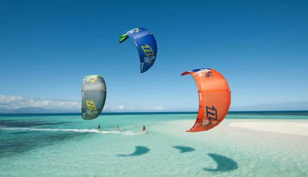 Kitesurfing in Shark Bay Langebaan South Africa