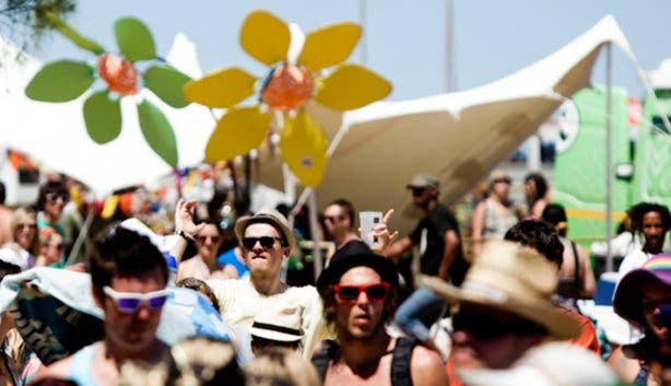 Rocking the Daisies crowd