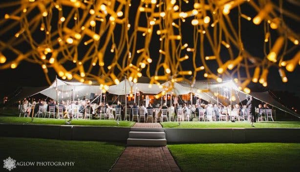 Tented Kleinevalleij garden wedding venue winelands