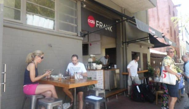 Cafe Frank aussen Bree Street