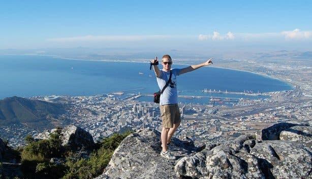 Jeroen op de Tafelberg