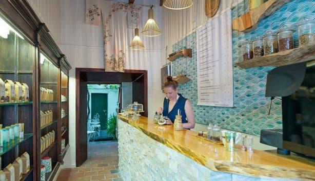 The Tea Bar Lady Bonin making tea