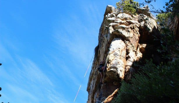 girl rock climbing at silvermine nature reserve