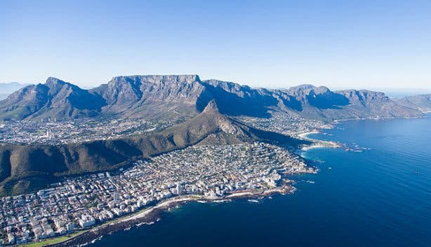 Aerial of Lion's Head from a NAC helicopter