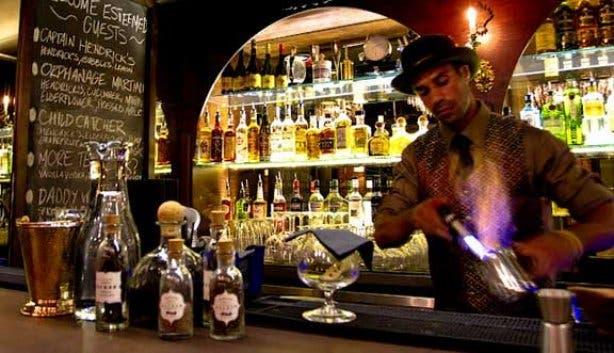Bartenders at Orphanage making cocktails
