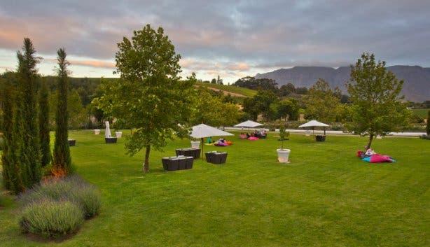 Peter Falke Wine Farm Lawn Stellenbosch