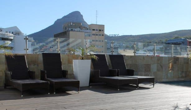 Pool deck at Inn on the Square CPT