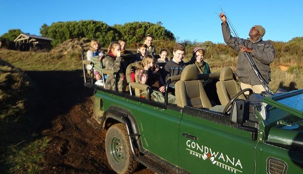 Game drive at Gondwana safari lodge