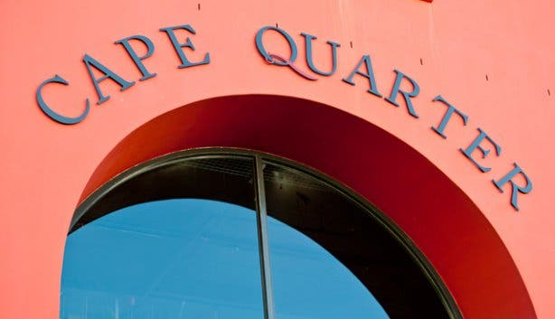 Cape Quarter Piazza Sign