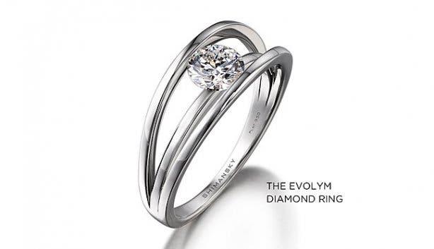 Patented Shimansky EVOLYM Diamond Ring