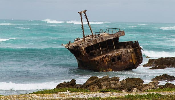 Shipwreck at Cape Agulhas National Park