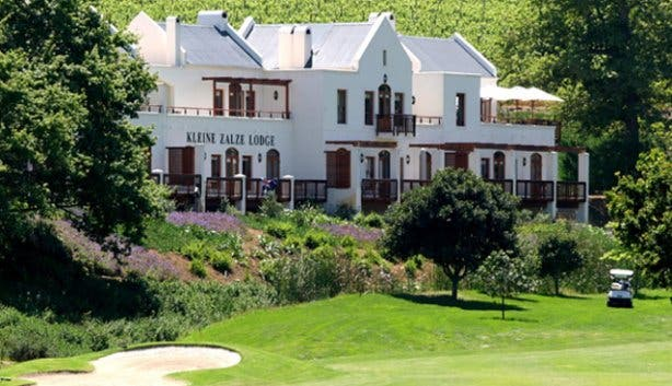 Kleine Zalze Lodge from De Zalze Golf Course