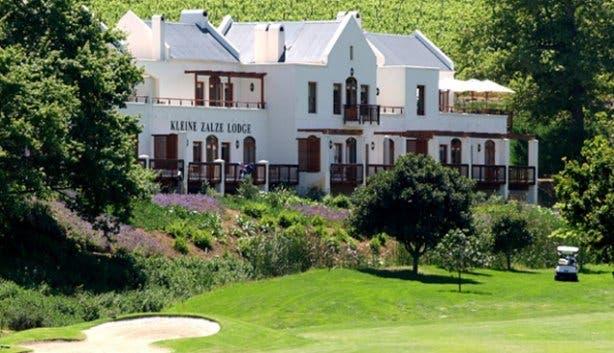 Kleine Zalze Lodge from De Zalze Golf Course
