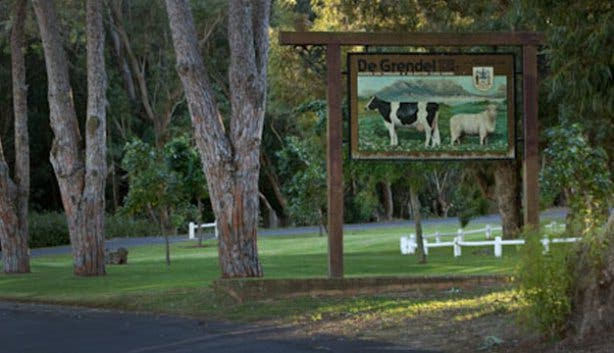 De Grendel Wine Farm Sign