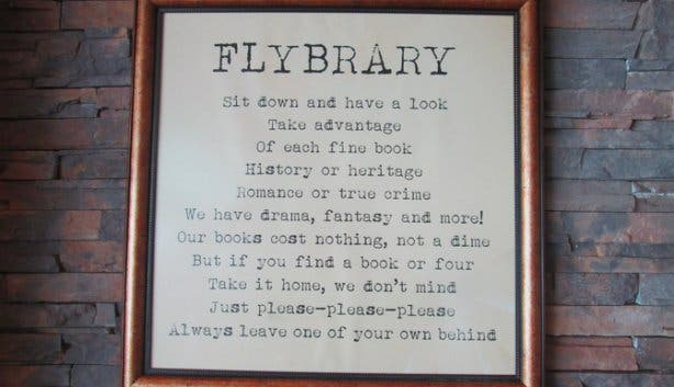 Flybrary Sign at the Cape Town Airport