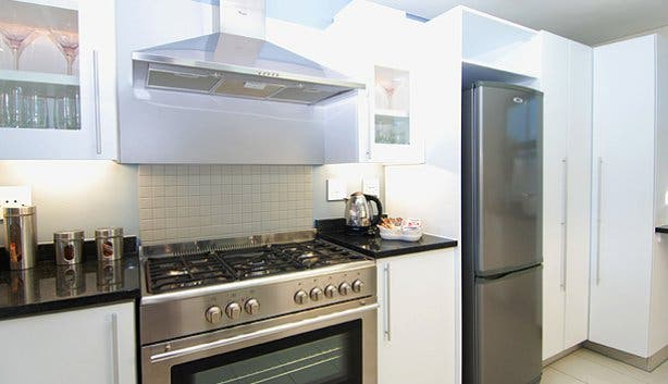 Kitchen at self-catering at Whale Coast Hotel Hermanus