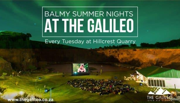 Galileo Cinema at Hillcrest Quarry every Tuesday