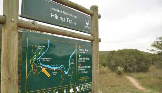Hiking trails for Bontebok National Park