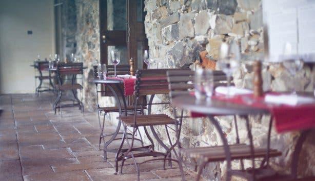Outdoor dining area headquarters