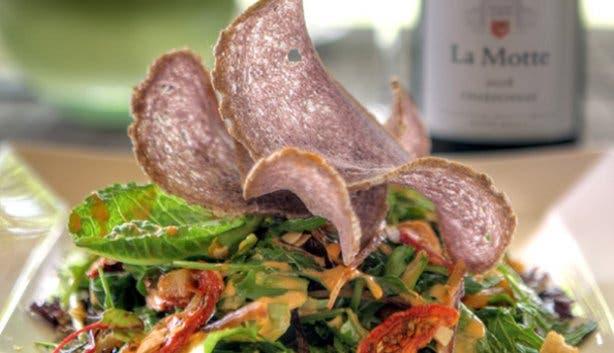 Cape Bokkom Salad Pierneef a La Motte Restaurant