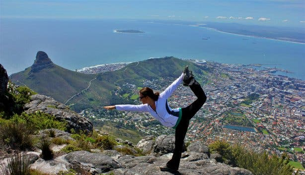 yoga table mountain cape town kaapstad