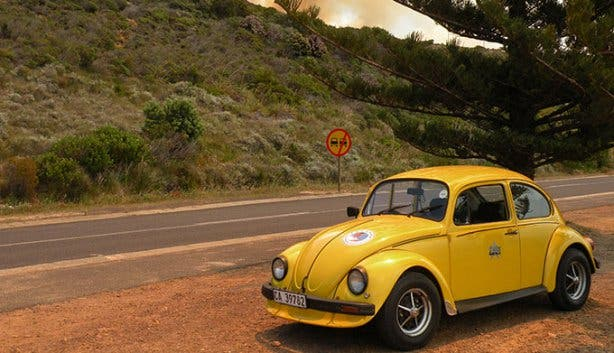 Fun Car Hire Yellow Beetle Chapman's Peak