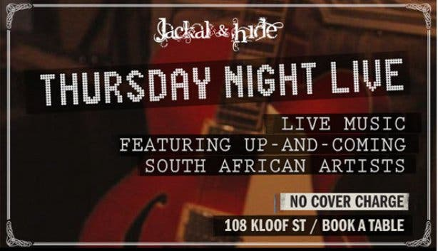 Thursday Night Live Music at Jackal & Hide Bar